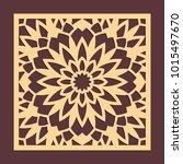 laser cutting panel. golden... | Shutterstock .eps vector #1015497670