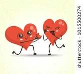 marriage proposal  hearts... | Shutterstock .eps vector #1015500274