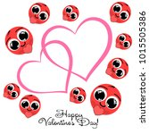 greeting card day of st.... | Shutterstock .eps vector #1015505386