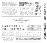 set of 10 hand drawn fonts. | Shutterstock .eps vector #1015505470