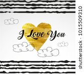 happy valentines day typography.... | Shutterstock .eps vector #1015509310