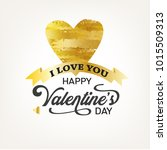 happy valentines day typography.... | Shutterstock .eps vector #1015509313