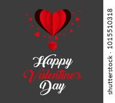 happy valentines day typography.... | Shutterstock .eps vector #1015510318