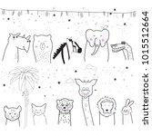 animal cartoon set isolated on... | Shutterstock .eps vector #1015512664