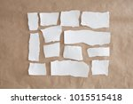 different size cut white paper... | Shutterstock . vector #1015515418