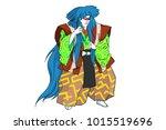 japanese traditional hero | Shutterstock . vector #1015519696