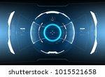 sci fi futuristic hud dashboard ... | Shutterstock .eps vector #1015521658