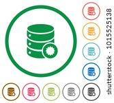 certified database flat color... | Shutterstock .eps vector #1015525138
