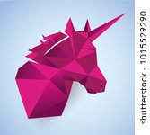 unicorn mozaic art. fantasy... | Shutterstock .eps vector #1015529290