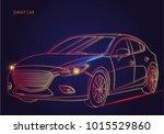 smart or intelligent car vector ... | Shutterstock .eps vector #1015529860