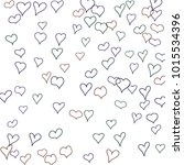 hand drawn hearts. background.  ... | Shutterstock .eps vector #1015534396