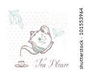 tea please card | Shutterstock .eps vector #101553964