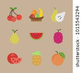 icons fruits and vegetables... | Shutterstock .eps vector #1015543294