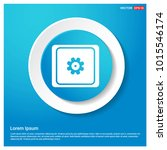 setting icon abstract blue web...