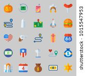 icons about united states with... | Shutterstock .eps vector #1015547953