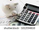accounting. piggy pig  and a... | Shutterstock . vector #101554810
