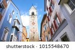 zw lferturm tower in the old... | Shutterstock . vector #1015548670