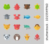 icons about animals with turtle ... | Shutterstock .eps vector #1015549960