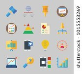 icons about business with... | Shutterstock .eps vector #1015553269