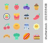 icons about food with sushi ... | Shutterstock .eps vector #1015555438