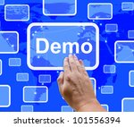 demo button to download trial... | Shutterstock . vector #101556394
