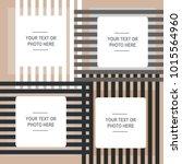 realistic design photo frames.... | Shutterstock .eps vector #1015564960