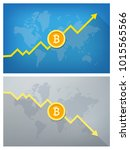 bitcoin value oscillations  ... | Shutterstock .eps vector #1015565566