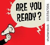 megaphone hand business concept ... | Shutterstock .eps vector #1015567006