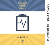 electrocardiogram symbol icon   Shutterstock .eps vector #1015571200