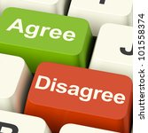 disagree and agree keys for...   Shutterstock . vector #101558374