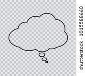 dream cloud black color... | Shutterstock .eps vector #1015588660