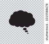 dream cloud black color... | Shutterstock .eps vector #1015588678