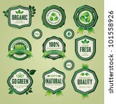 set of organic and natural... | Shutterstock .eps vector #101558926