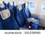 seat rows in an airplane cabin | Shutterstock . vector #101558980