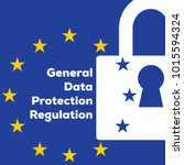 general data protection... | Shutterstock .eps vector #1015594324
