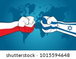 confront between poland and...   Shutterstock .eps vector #1015594648