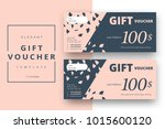 abstract gift voucher card... | Shutterstock .eps vector #1015600120