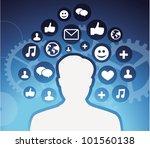 social media icons   male... | Shutterstock .eps vector #101560138