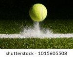 Match point with a tennis ball...