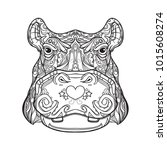 black and white version of... | Shutterstock .eps vector #1015608274