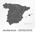 map of spain   vector... | Shutterstock .eps vector #1015612510