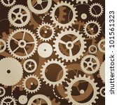 seamless pattern with cogs and... | Shutterstock .eps vector #101561323