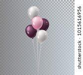 vector realistic bunch helium... | Shutterstock .eps vector #1015616956