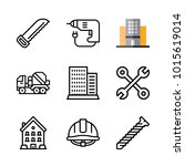 icons architecture. vector saw  ... | Shutterstock .eps vector #1015619014