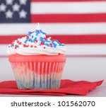 Red White And Blue Cupcake Wit...