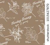 greenery illustrations pattern   Shutterstock . vector #1015627870