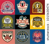boxing academy badges and... | Shutterstock .eps vector #1015630474