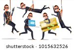 thief  hacker man set vector.... | Shutterstock .eps vector #1015632526