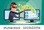 hacking concept vector. hacker... | Shutterstock .eps vector #1015632556