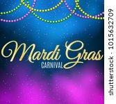 background for mardi gras... | Shutterstock .eps vector #1015632709